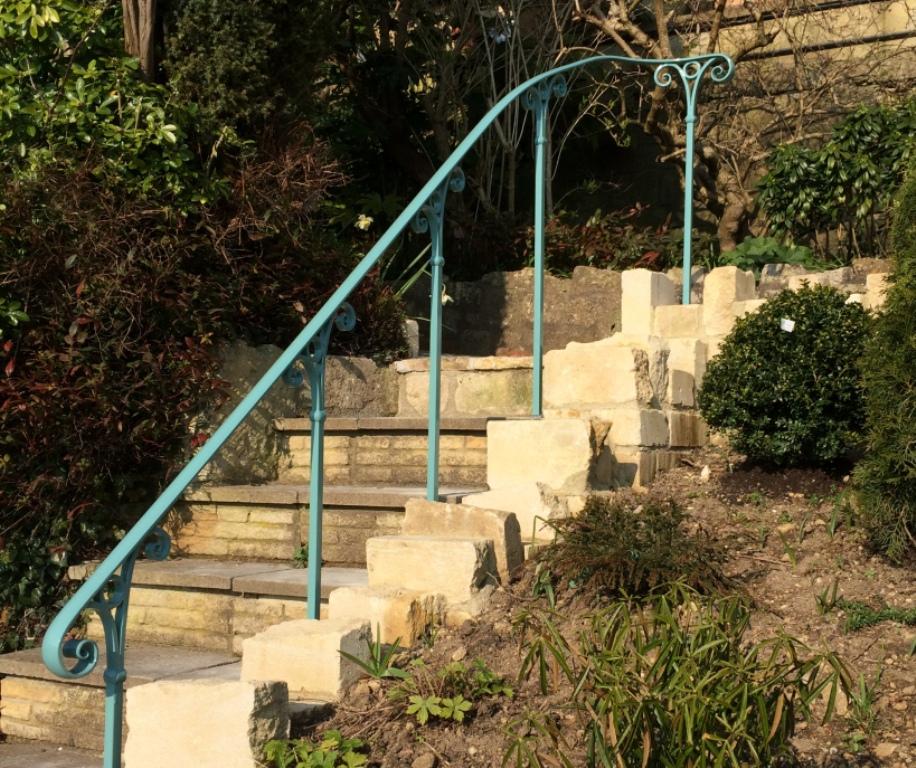 Delicieux Bespoke Scroll Detail Garden Handrail In Combe Down, Bath