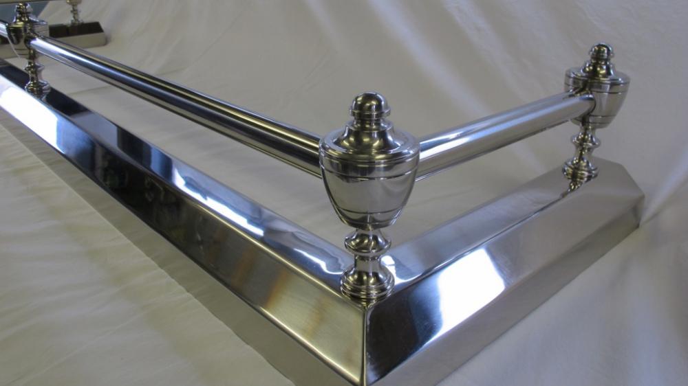 Fireplace Design fireplace fenders : Bespoke Chrome Fire Fender | Ironart of Bath
