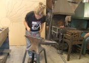 Cecilie Robinson - Ironart open workshops July 2013