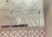 Sun panel made by James Cuthbertson, Ironart of Bath