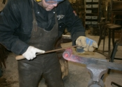 Jason Balchin - making a set of bespoke door hinges at Ironart of Bath