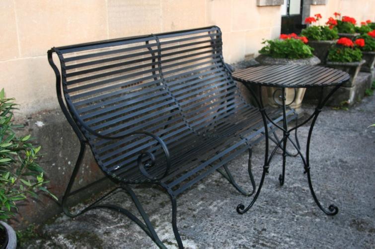 Super Wrought Iron Garden Furniture Ironart Of Bath Creativecarmelina Interior Chair Design Creativecarmelinacom