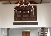Medieval style barn chandelier by Ironart of Bath
