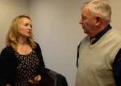 Ali Davey from Historic Scotland with historian Peter Millington