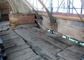 Orangery restoration - ironwork repairs