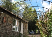 Garden pergola tunnel arch in wrought iiron, Coleford, Near Bath