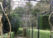 Garden Pergola in winter - Turleigh near Bath
