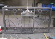 Fanlight being built in the Ironart workshops, Bath