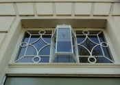 The newly installed fanlight at Prior Park Buildings, Bath