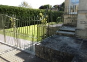Flatwoods Road Gate and Railings by Ironart of Bath
