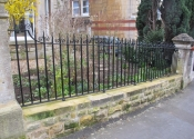 Metal railings in Bloomfield Park, Bath, by Ironart of Bath