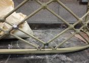 Restoration of historic wrought iron balconettes with lead cast detailing - Ironart of Bath