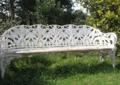 Coalbrookdale Lily of the valley bench prior to restoration