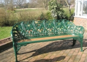 Fully restored Coalbrookdale cast iron bench - Ironart of Bath