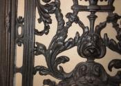 Restoration of decorative cast iron door panels