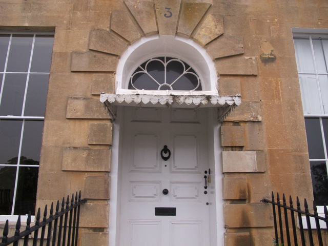 Restoration of three zinc covered door canopies on Georgian Cavendish Crescent in Bath. & Georgian door canopy | Ironart of Bath