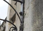 Prior to restoration - gas lanterns in situ at Christ Church, Julian Road