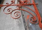 Repairs to the scrollwork