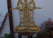 Coalbrookdale cast iron umbrella stand - prior to restoration