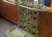 Coalbrookdale umbrella stand restoration