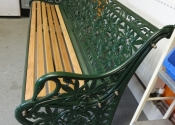 Restoration of a cast iron Coalbrookedale 'Passion Flower' bench