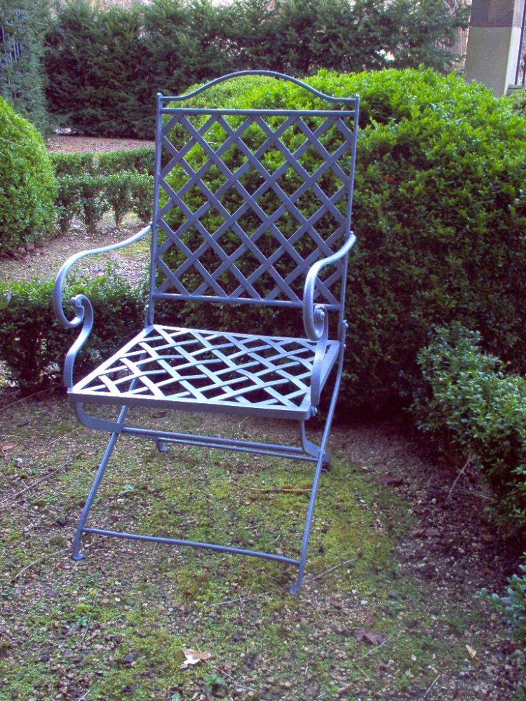 Restoration of an antique folding garden chair & Folding garden chairs | Ironart of Bath