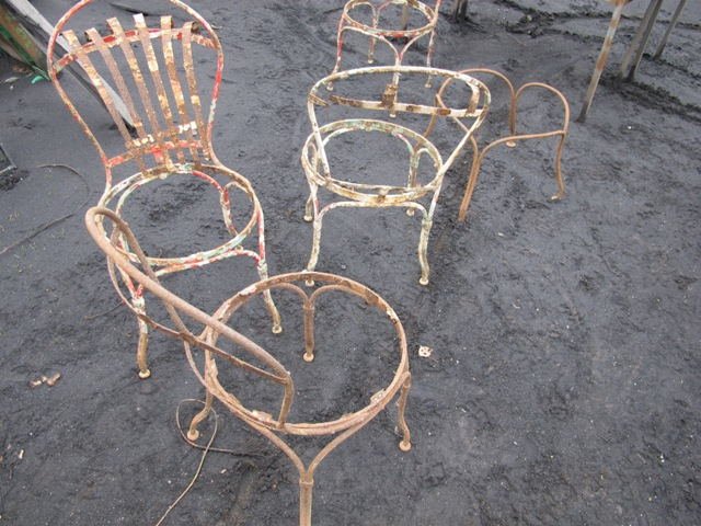 A pair of French chairs  Ironart of Bath
