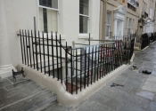 Restoration of the historic gate and railings at Rivers Street, Bath