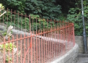 Restoration of heritage ironwork railings to rear of Camden Crescent, Bath