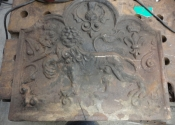 Restoration of a cast iron fire back - Martin Smith Ironart of Bath