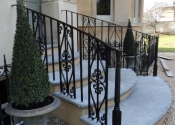 Handrails for front steps of a period property in Weston, Bath by Ironart of Bath