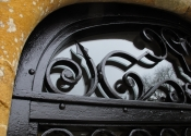 Glazed decorative security entrance doors