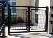 Metal security gates with mesh in Monkton Farleigh near Bath