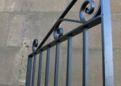 Sheeted metal double gates, The Tyning, Bath