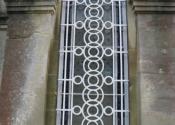 Security window grille - circular design