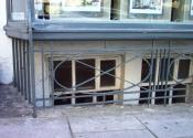 Cross bar window security grille