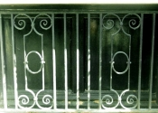 Traditional scroll design window grille