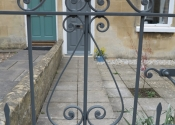 Raglan Terrace single wrought gate detail by Ironart of Bath