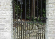 Curved top single garden gate