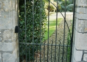 Spear finial single garden gate