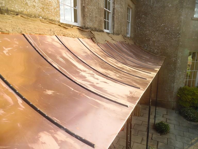 Southstoke Copper Canopy Restoration Ironart Of Bath
