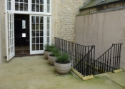 A winding staircase on the Royal Crescent in Bath for Simon Morray-Jones Architect