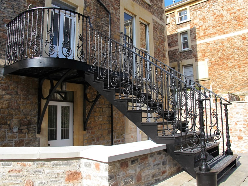 Charming Cast Iron Staircase, Clifton, Bristol