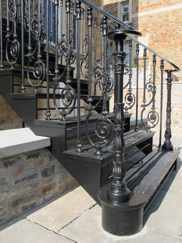 Beautiful Cast Iron Staircase, Clifton, Bristol