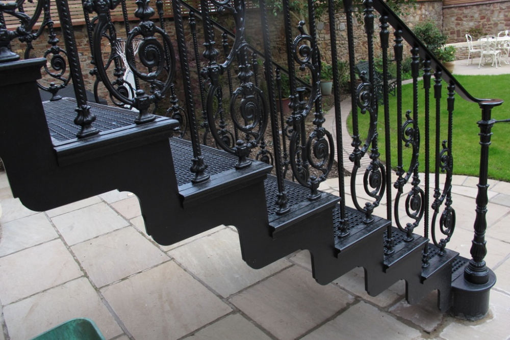Cast Iron Staircase, Clifton, Bristol · Neighbouring Property In Clifton  Bristol