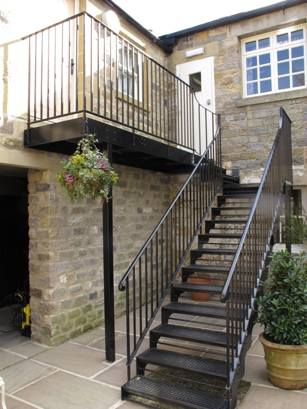 Staircases walkways ironart of bath for Staircase exterior design