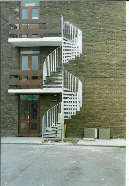 How much would metal architectural external staircase cost - Exterior metal spiral staircase cost ...