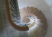 Swainswick Farmhouse winding staircase with oak handrail