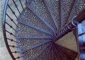 External spiral staircase, Royal Crescent Bath
