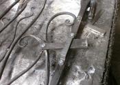 The Anenome gate latch detail